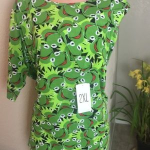 2XL Kermit the Frog fits up to 3xl normal size